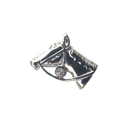 Horse Head English Pewter Lapel Pin Badge