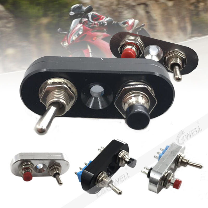CNC Motorcycle Handlebar Control Turn Signal Light ON-OFF Horn Button Switch NEW