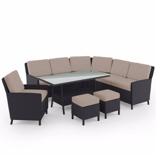Luxo Galante 7pc PE Wicker Outdoor Sofa Dining Set   Ash | Outdoor Dining  Furniture | Gumtree Australia Blacktown Area   Seven Hills | 1160414679 Part 16