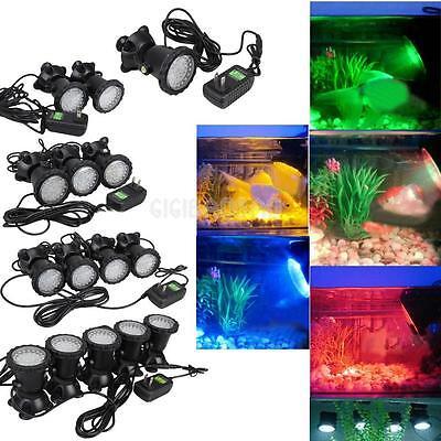 Submersible Multicolor 36LED Underwater Garden Aquarium Fish Tank Spot Light New