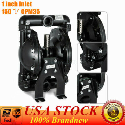 Air-operated Double Diaphragm Pump 1 Inch Inletoutlet 35 Gpm 38 Cfm 120psi New