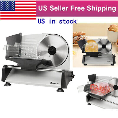 Electric 7.5 Removable Serrated Steel Blade Deli Food Cheese Fruit Meat Slicer