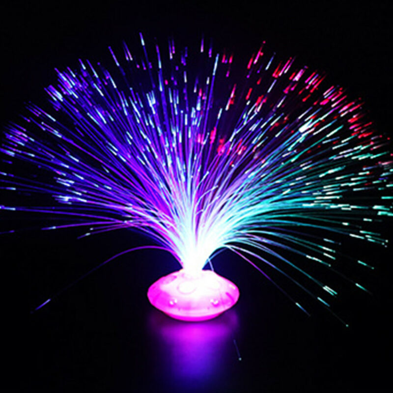 Color Changing LED Fiber Optic Night Light Lamp Colorful Stand Room Decorations