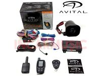 Pager Car Van Alarm Car Security System with Keyless Entry, Shock Sensor, Immobiliser Supply & Fit