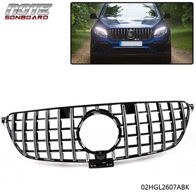 For Mercedes Benz GLE Class Coupe C292 W292 Black Front Grill GT R Grille 16-18