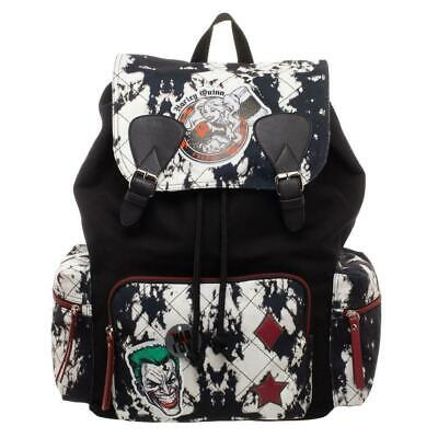 Licensed DC Comics Batman Harley Quinn & Joker Rucksack Backpack Canvas