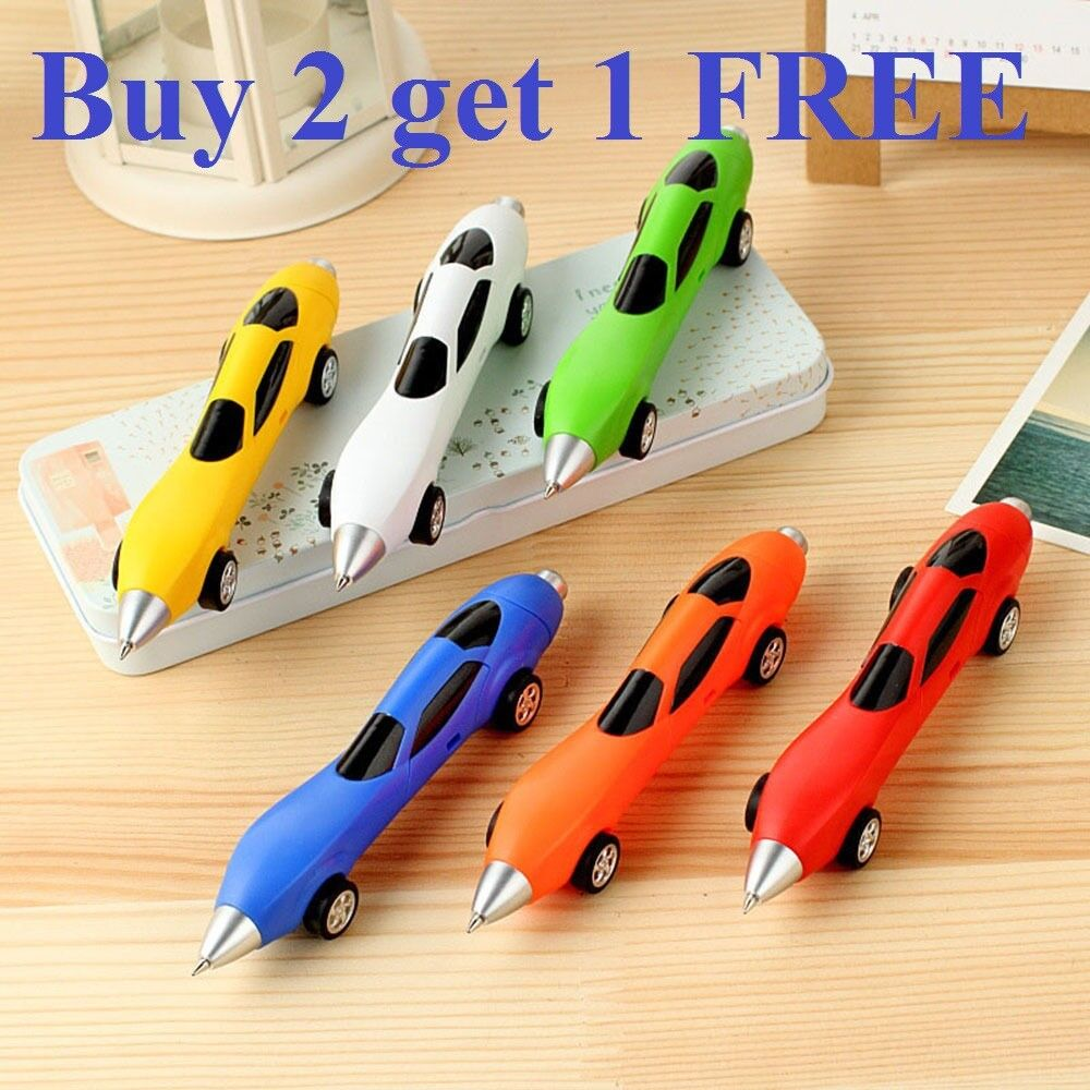 Rrefined Car Plastic Ballpoint Pen Cute Ball Point Pens Kids Stationery Gift Toy Ballpoint Pens