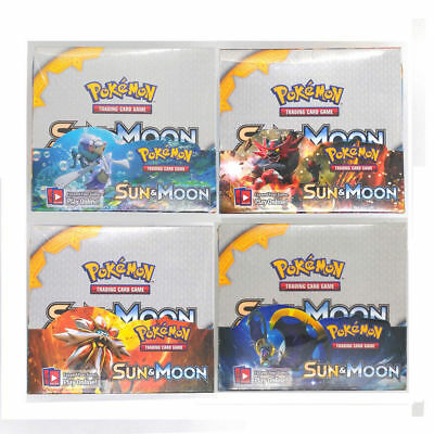 Pokemon Tcg Sun And Moon Booster Box English Sealed 36 Packs Game Toy Copy Cards