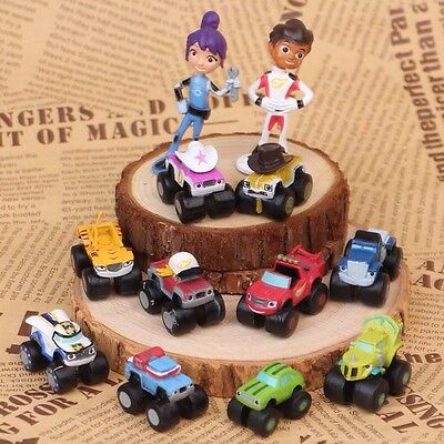 12 PCS Blaze And The Monster Machines Vehicle Action Figure Decoration Kids Toys