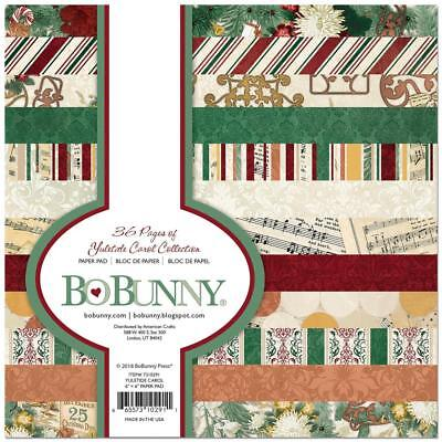Scrapbooking Crafts BoBunny 6X6 Paper Pad Yuletide Carol Christmas Stripes Music](Paper Christmas Crafts)