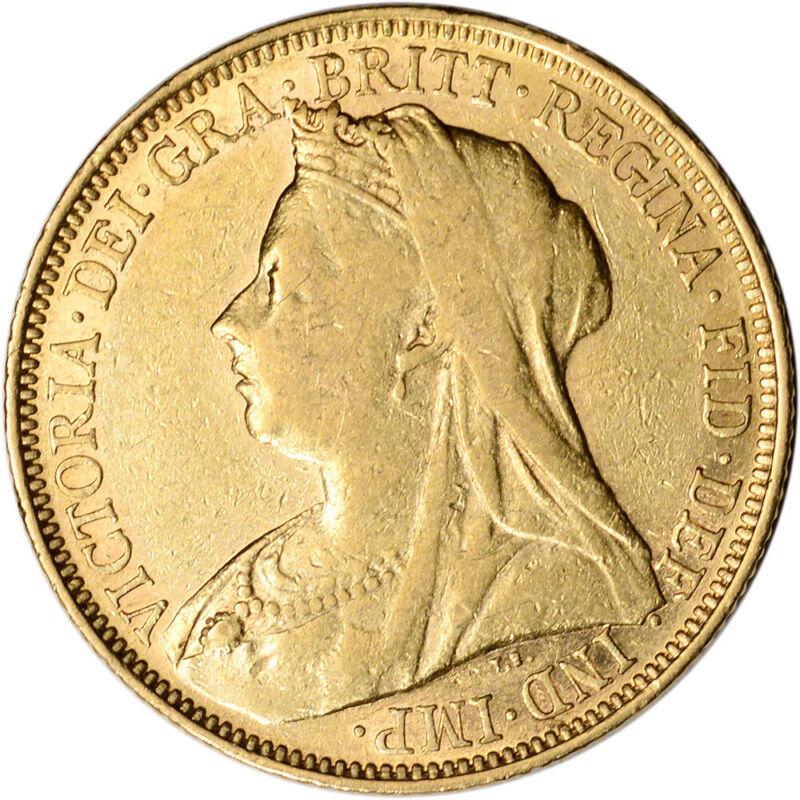 Australia Gold Sydney S Sovereign .2354 oz Victoria Matron XF/AU Random Date