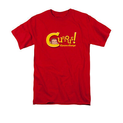Curious George Adult Shirt (CURIOUS GEORGE CURIOUS Adult Men's Licensed Graphic Tee Shirt)