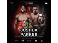 2x Anthony Joshua vs Joseph Parker tickets, Principality Stadium Cardiff, Saturday 31st March 2018