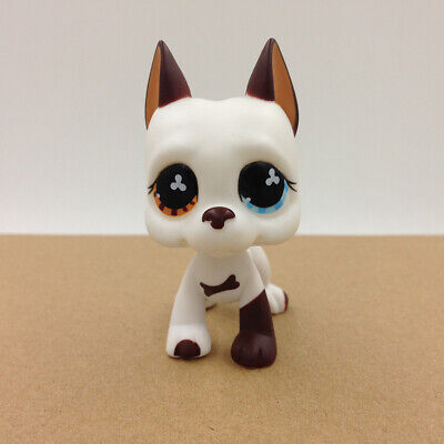 Littlest Pet Shop LPS #577 White Great Dane Dog Puppy Figure Collection Doll Toy
