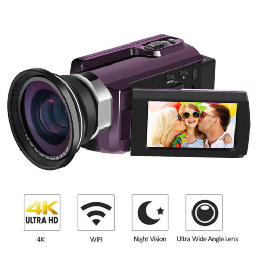 HDV-53 4K Digital Camera 48MP Portable Video Camcorder HD DVR HDMI Out Dual Lens