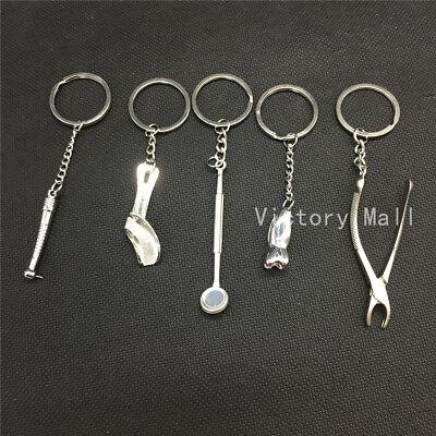 Dental Keychain For Dentist Dental Clinic Gift Molar Tooth Key Chain Metal