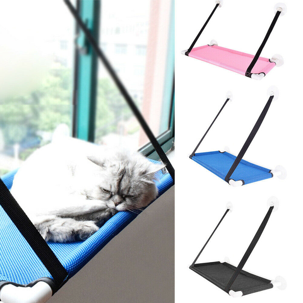Cat Hammock Bed Mount Window Pad Lounger Suction Cups Warm B