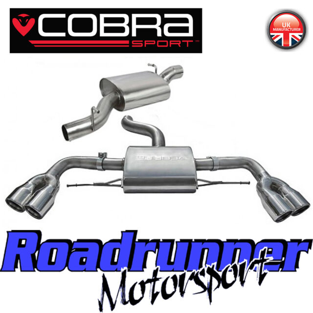 Cobra Sport Audi TTS MK2 TT Coupe Cat Back Exhaust System Stainless Resonated 3""