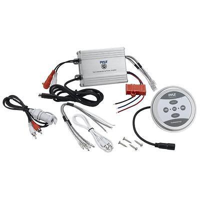Купить NEW Pyle PLMRMBT5S Marine Bluetooth 600 Watt 2 Channel Waterproof Boat Amplifier
