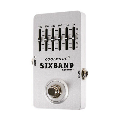 - Mini Guitar Equalizer Effect Pedal 6-Band EQ Full Metal Shell Durable G1R3