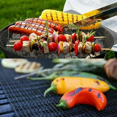 New BBQ Grill Mesh Non-Stick Mat Reusable Teflon Sheet Resistant Barbecue Meat