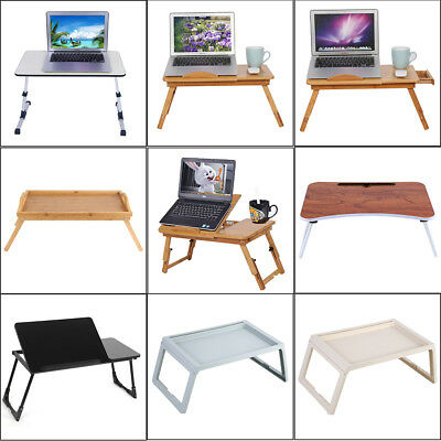Portable Foldable Adjustable Laptop Desk Computer Table Stand Tray Sofa Bed US