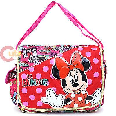 Disney Minnie Mouse School Messenger Shoulder  Diaper Bag -