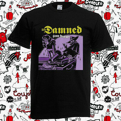 The Damned Grave Disorder English Punk Rock Band Mens Black T Shirt Size S 3Xl