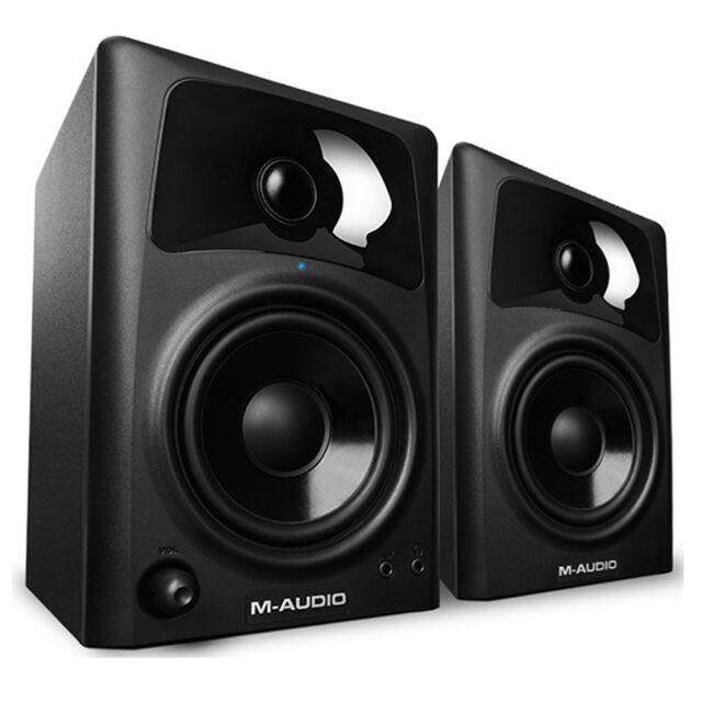 """M-Audio AV42 Professional 20W Home Recording Studio Monitor 4"""" Speakers Pair"""