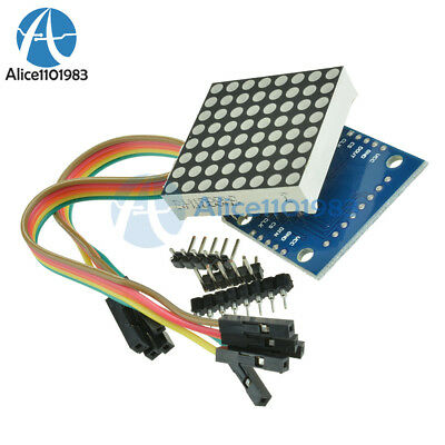 10pcs Arduino Microcontroller Max7219 Dot Matrix Module Control Display Diy Kit