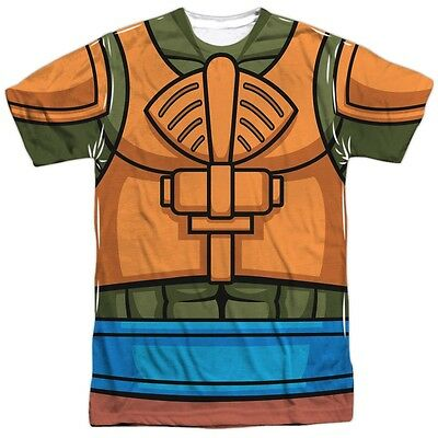 Masters of the Universe He-Man Man at Arms Outfit Uniform Costume Front T-shirt