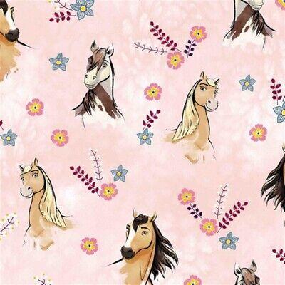 Jersey, Digital Baumwolljersey mit SPIRIT Pferd, Pferde Rosa