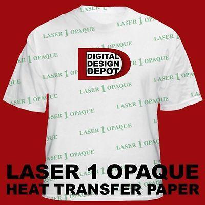 Laser 1 Opaque For Dark T-shirt Neenah Heat Transfer Paper 8.5 X 11 100 Sheet