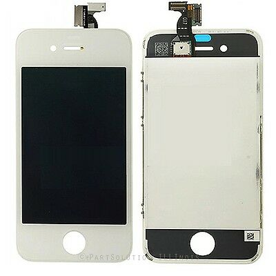 White iPhone 4 LCD Display Screen + Touch Digitizer Assembly Frame Compatible
