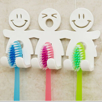 Toothbrush Towel Holder Wall Monted Bathroom Hanging Suction Cup Stand Hook Set ()