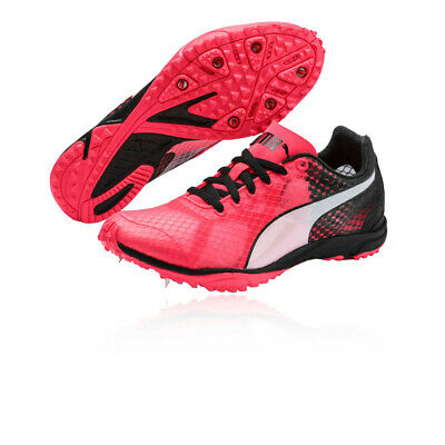 Puma Mens evoSPEED Haraka 6 Unisex Running Spikes Traction - Pink Sports