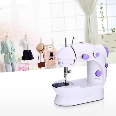Mini Household Purple Electric Sewing Machine 2 Speed Adjustment 100-240V US