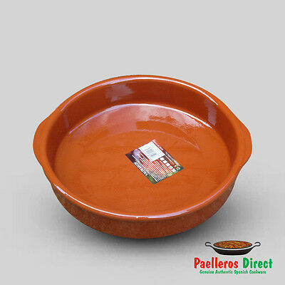 32cm Spanish Terracotta Tapas Dish / Cazuela