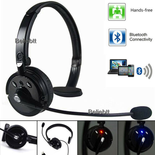 Bluetooth Headset Trucker Driver Wireless Gaming PC Headphon