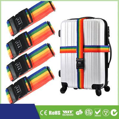 4 x Koffergurt mit Zahlenschloss 200cm kofferband Gepäckgurt Flug Reisen DE