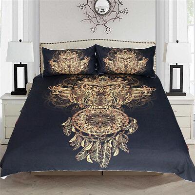 Golden Owl Bedding Set King Size Boys Luxury Dreamcatcher Pr