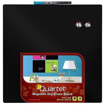 Quartet Dry-Erase Board, 14 x 14 Inches,Neon Black Surface