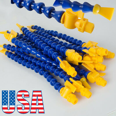 Usa 12pcskit Lathe Cnc Machine Adjustable Plastic Water Oil Coolant Pipe Hose