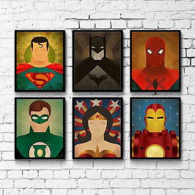 Superhero Anime Characters Canvas Poster Art Painting Modern Home Wall - Superhero Characters