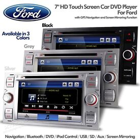 7 Inch HD Car DVD Player + Bluetooth Navigation USB SD & Screen Mirroring For Ford Focus Fiesta CMax