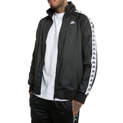 New Men's Kappa Logo Tracksuit Track Jacket Sweater Coat Top - Navy Black White