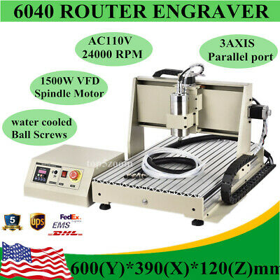 6040z Cnc Router Engraver Metal Carving Drilling Milling Machine 3 Axis Desktop