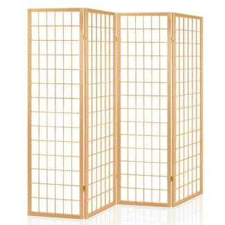 Solid Teak 3 Panel Louver Door Privacy Screen Room Divider Other