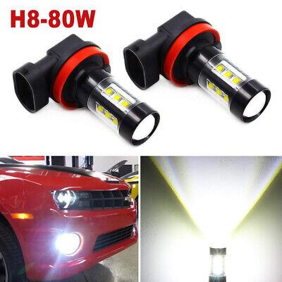 H11 H8 H9 80W LED Fog Light Conversion Bulb Car Driving Lamp DRL 6000K HID White