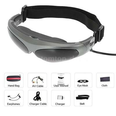 """80"""" LCD Wide Screen Smart Video Glasses Stereo Mobile Theater for DVD XBOX D0A2"""